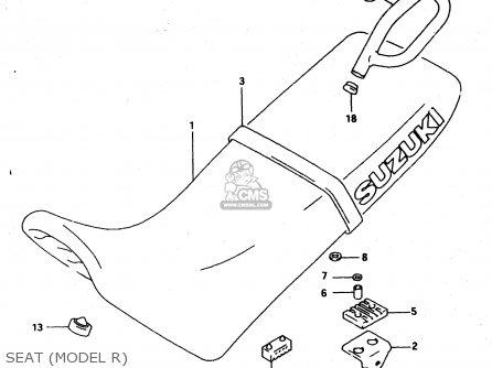 Suzuki Dr650 1994 (reur) parts list partsmanual partsfiche