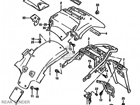 Suzuki Dr650 1994 (rr) parts list partsmanual partsfiche