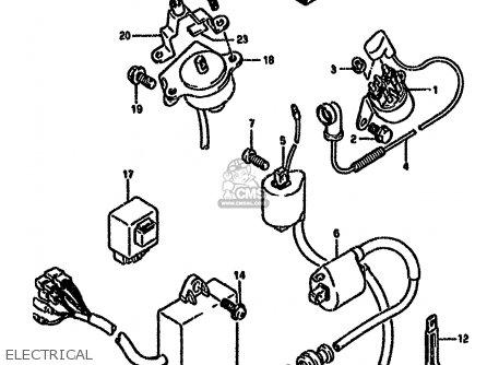 Suzuki Dr650 1994 (rser) parts list partsmanual partsfiche