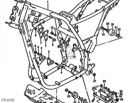 Suzuki Dr650 1995 (rseus) parts list partsmanual partsfiche