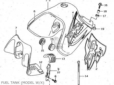 Suzuki Dr650 1996 (set) parts list partsmanual partsfiche