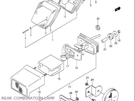 Suzuki Dr650 S 1990-1991 (usa) parts list partsmanual