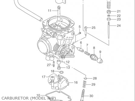 Suzuki Dr650 Se 1992-1995 (usa) parts list partsmanual