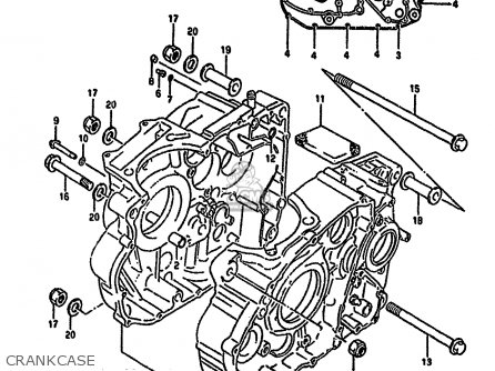 Suzuki Dr650r 1992 (n) parts list partsmanual partsfiche
