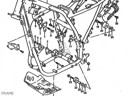 Suzuki DR650R 1994 (R) (E04 E21 E22 E53) parts lists and