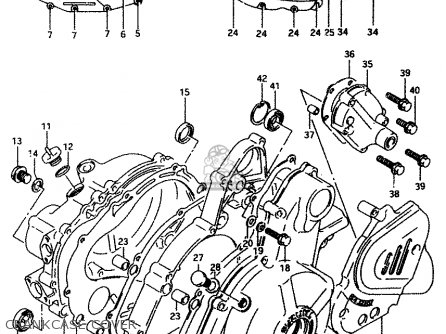 Suzuki Dr650reu 1994 (r) (e22) parts list partsmanual
