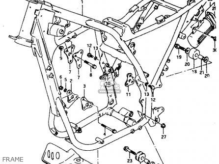 Suzuki DR650REU 1994 (R) (E22) parts lists and schematics