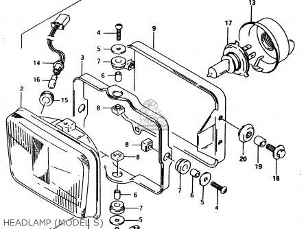 Suzuki Dr650reu 1994 (r) (e22) parts list partsmanual