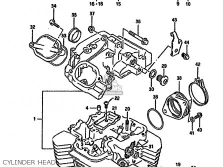 Suzuki Dr650rseu 1995 (s) Germany (e22) parts list