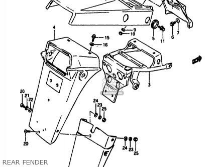 Suzuki DR650RSU 1990 (L) GERMANY (E22) parts lists and