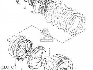Suzuki DR650S 1990 (L) USA (E03) parts lists and schematics