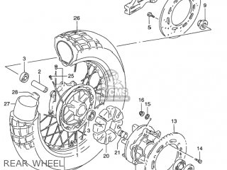 Suzuki DR650SE 1992 (N) USA (E03) parts lists and schematics