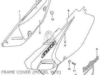Suzuki Dr650se 1998 (w) Usa (e03) parts list partsmanual