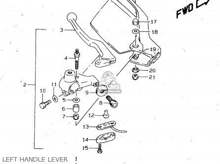 Suzuki DR650SEU 1996 (T) GERMANY (E22) parts lists and