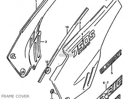 Suzuki Dr750 1989 (sk) parts list partsmanual partsfiche