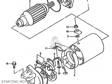 Suzuki Dr750s 1989 (k) (1 2 4 15 16 E17 E18 E21 E22 E24