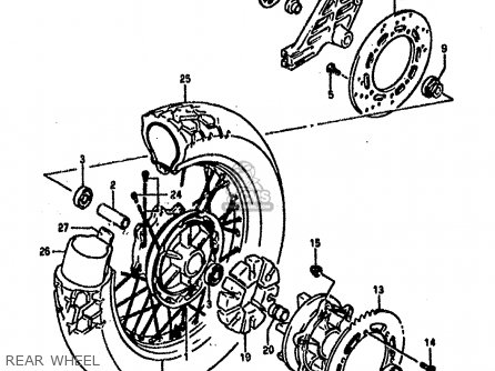 Suzuki Dr800 1990 (sl) parts list partsmanual partsfiche