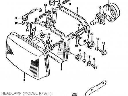 Suzuki Dr800s 1991 (m) parts list partsmanual partsfiche