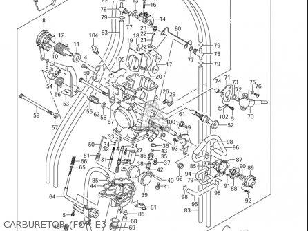 Suzuki DRZ400E 2005 2006 (K5) (K6) USA (E03) parts lists