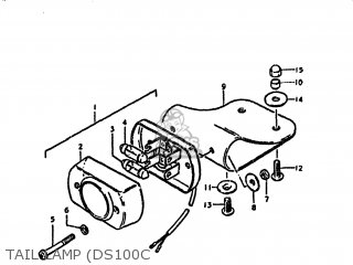 Suzuki DS100 1981 (X) USA (E03) parts lists and schematics