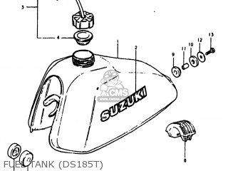 Suzuki DS185 1980 (T) USA (E03) parts lists and schematics