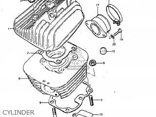 Suzuki Ds80 1980 (t) Usa (e03) parts list partsmanual