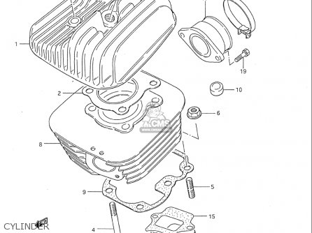 Suzuki Ds80 1985-1995 (usa) parts list partsmanual partsfiche