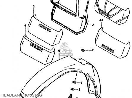 Suzuki Ds80 1985 (f) parts list partsmanual partsfiche