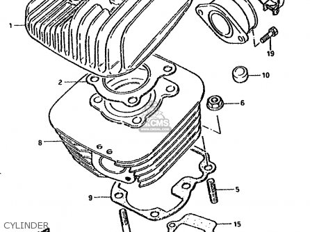 Suzuki Ds80 1986 (g) parts list partsmanual partsfiche