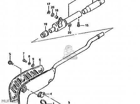 Suzuki Ds80 1986 (g) parts list partsmanual partsfiche