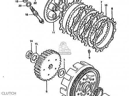 Suzuki DS80 1987 (H) parts lists and schematics