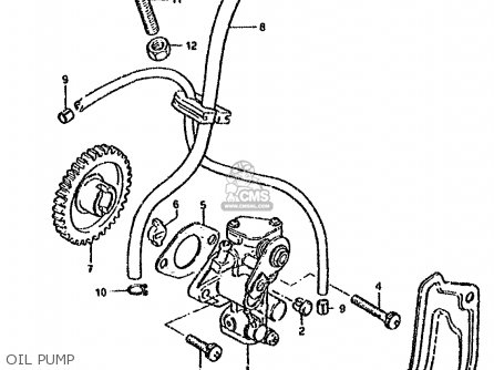 Suzuki Ds80 1987 (h) parts list partsmanual partsfiche