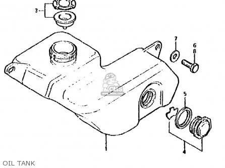 Suzuki Ds80 1990 (l) parts list partsmanual partsfiche