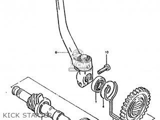 Suzuki Ds80 1991 (m) parts list partsmanual partsfiche