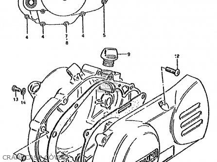 Suzuki Ds80 1992 (n) parts list partsmanual partsfiche