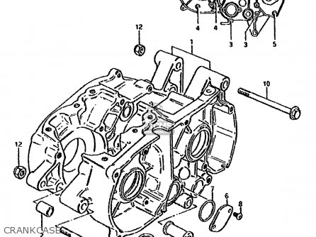 Suzuki Ds80 1992 (n) parts list partsmanual partsfiche