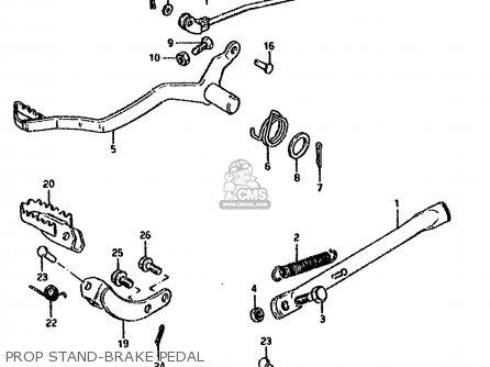 Suzuki Ds80 1993 (p) parts list partsmanual partsfiche