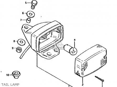 Suzuki DS80 1993 (P) parts lists and schematics