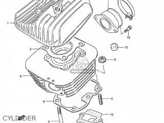 Suzuki DS80 1994 (R) USA (E03) parts lists and schematics
