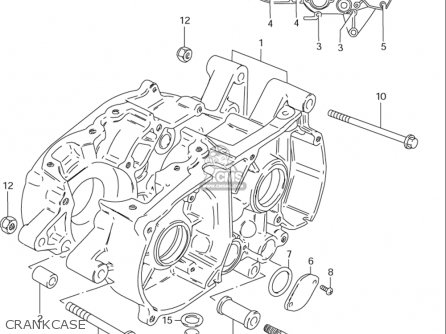 Suzuki Ds80 1996-2000 (usa) parts list partsmanual partsfiche