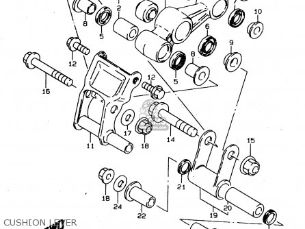 Suzuki Ds80 1996 (t) parts list partsmanual partsfiche