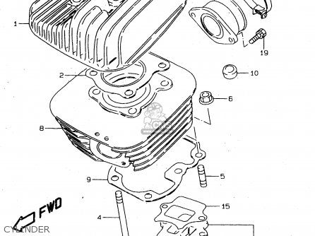 Suzuki Ds80 1996 (t) parts list partsmanual partsfiche