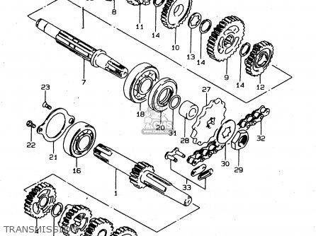 Suzuki DS80 1996 (T) USA CANADA (E03 E28) parts lists and