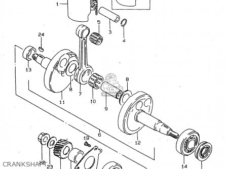 Suzuki Ds80 1997 (v) parts list partsmanual partsfiche