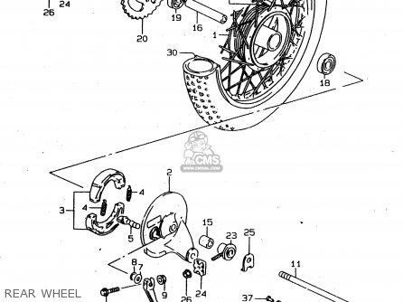 Suzuki Ds80 1997 (v) parts list partsmanual partsfiche