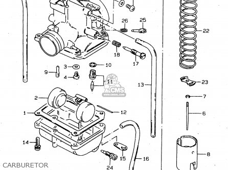 Suzuki Ds80 1998 (w) parts list partsmanual partsfiche