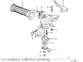 Suzuki Fa50 1980 (t) Usa (e03) parts list partsmanual