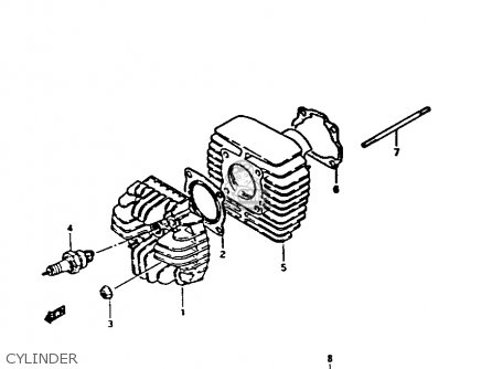 Suzuki Fa50 1982 (z) parts list partsmanual partsfiche