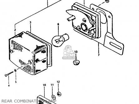 Suzuki Fa50 1982 (z) parts list partsmanual partsfiche