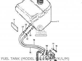 Suzuki FA50 1984 (E) USA (E03) parts lists and schematics